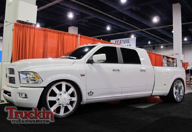 was from the 2010 sema show diesel wheels 2011 dodge mega cab dually
