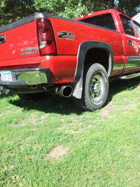 D Exhaust Tip Size on Duramax Diesel Dry Sump