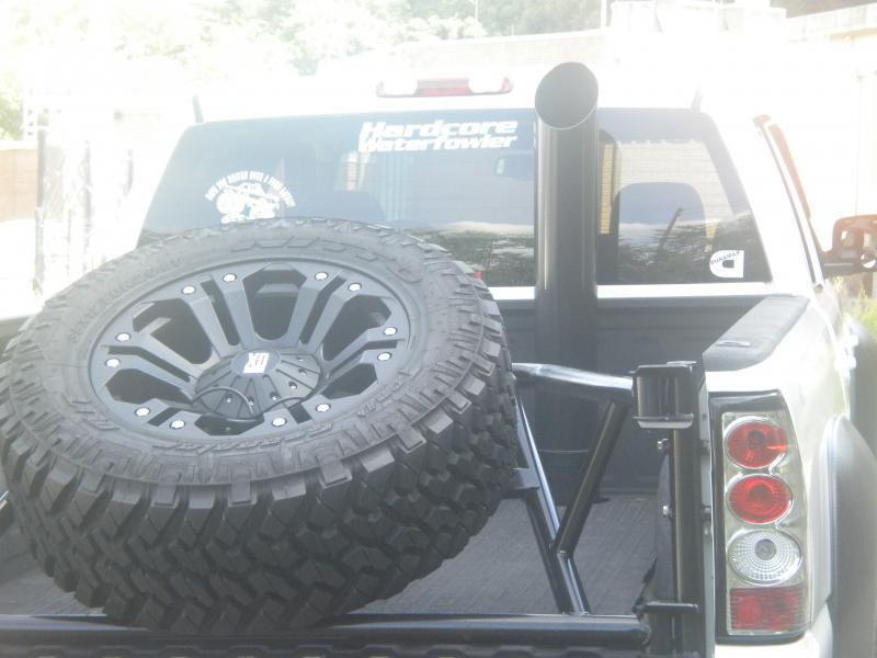 Rear Spare Tire Carrier Chevy And Gmc Duramax Diesel Forum