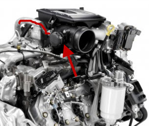 Mitsubishi 3 0 V6 Engine Diagram together with Nox Sensor Location Diagram additionally F250 Radiator Cap Location besides Mercedes E350 Egr Valve Location further Duramax Pcv Valve Location. on diesel egr valve location on engine