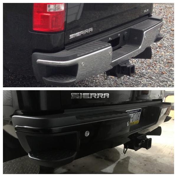 2015 Sierra Vinyl Wrapped Bumpers Chevy And Gmc Duramax