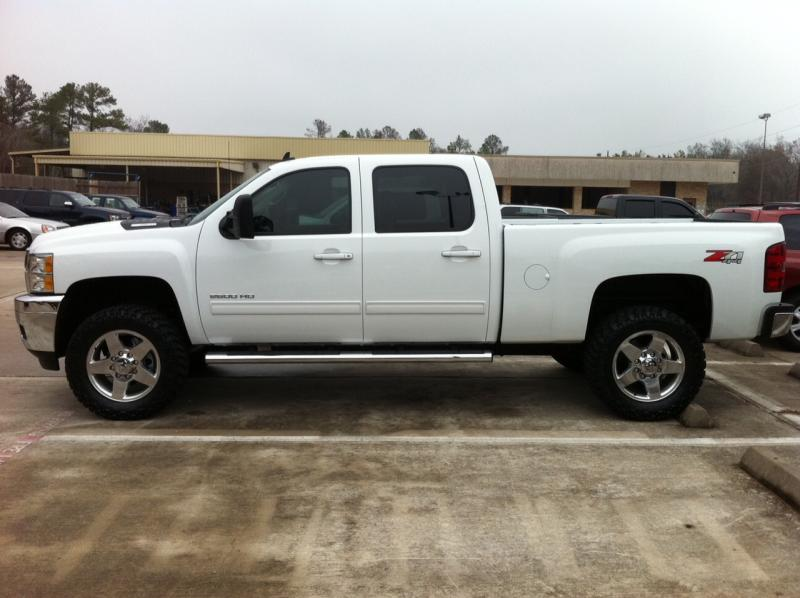 Biggest Tire On Stock >> leveled and biggest tires - Chevy and GMC Duramax Diesel Forum