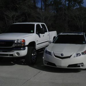 my truck and moms TL