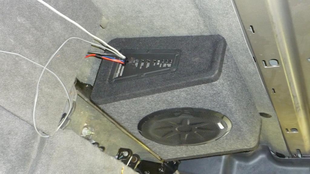 diy 10inch kicker bass station sub amp install chevy and Kicker Amp