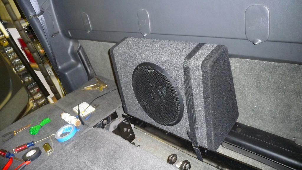 diy 10inch kicker bass station sub amp install chevy and gmc Koolertron Wiring Diagram